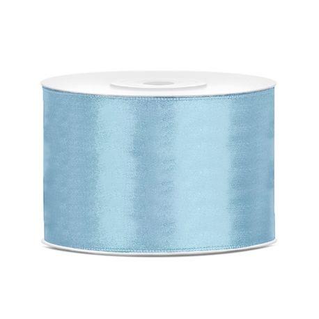 Modrá saténová stuha - 50mm/25m