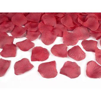 Vystreľovacie konfety - lupene bordová farba 60cm