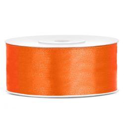 Stuha saténová oranžová - 25mm/25m