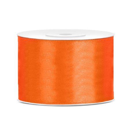 Stuha saténová oranžová  50mm/25m