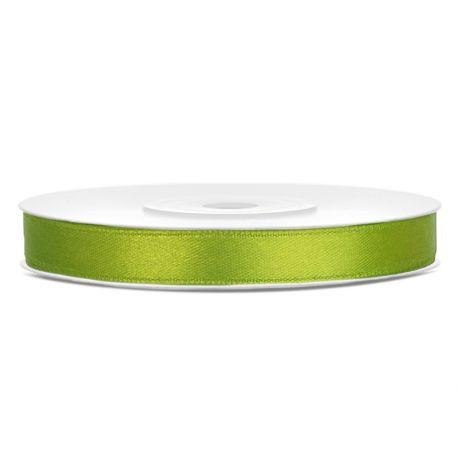 Zelená saténová stuha - jablko - 06mm/25m