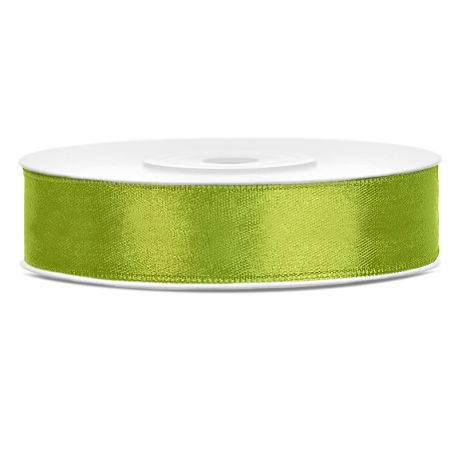 Zelená saténová stuha - jablko - 12mm/25m