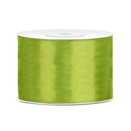 Zelená saténová stuha - jablko - 50mm/25m