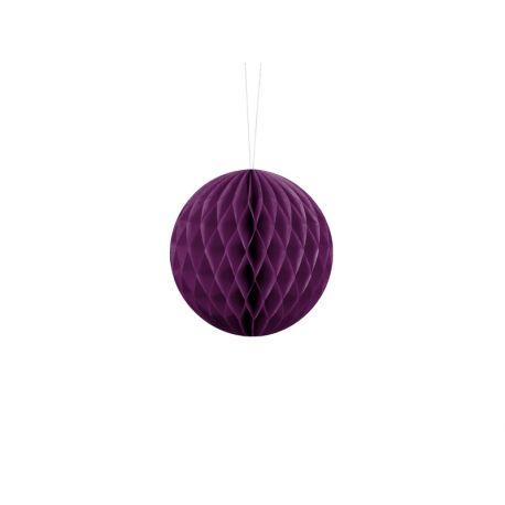 Fialová papierová guľa - Honeycomb Ball - 10cm
