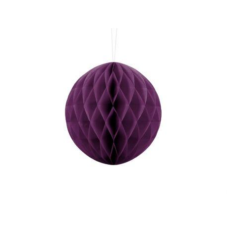 Fialová papierová guľa - Honeycomb Ball - 20cm