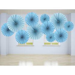 Modré dekoračné rozety
