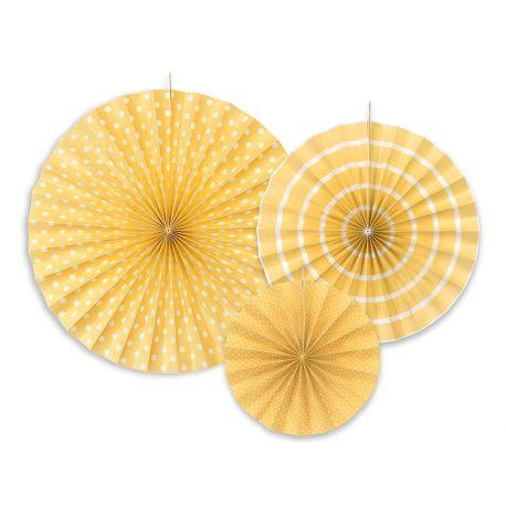 Žlté dekoračné rozety