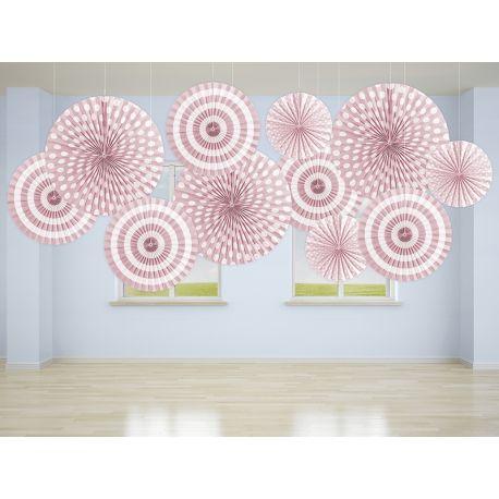 Ružové dekoračné rozety