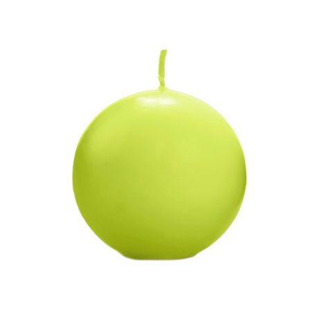 Zelená sviečka guľa matná - jablko