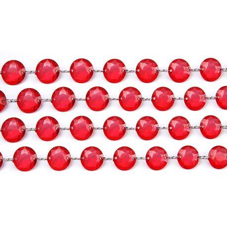 Červená kryštálová girlanda