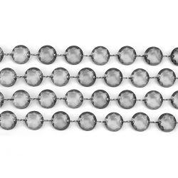 Sivá kryštálová girlanda
