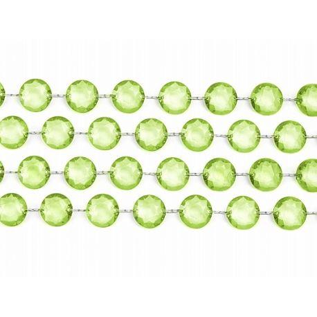 Zelená kryštálová girlanda