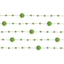 Girlanda perlová 1,3m zelená