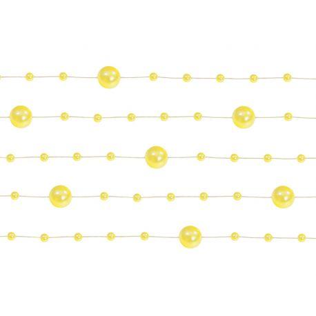 Žltá perlová girlanda