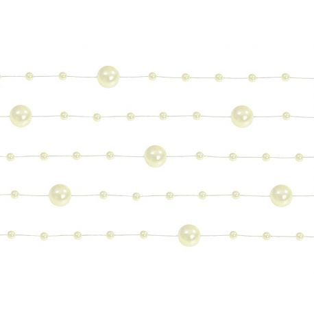 Krémová perlová girlanda