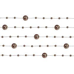 Girlanda perlová 1,3m hnedá