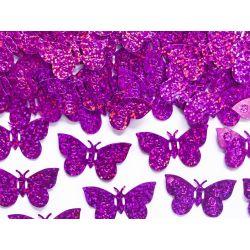 Konfety motýle ružové