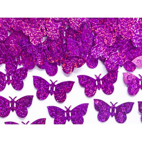 Ružové konfety na stôl motýle