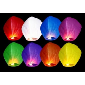 Lietajúce lampióny - mix farieb