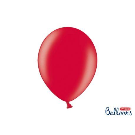 Červený metalický balón
