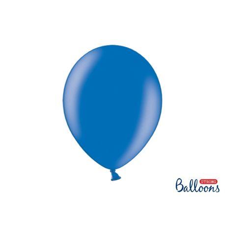 Modrý metalický balón
