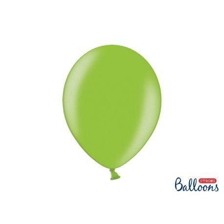 Balón metalický - svetlo zelená farba