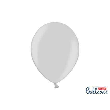 Strieborný metalický balón