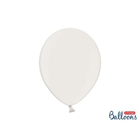 Biely metalický balón