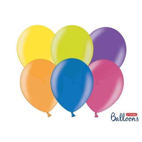 Metalické balóny - mix farieb