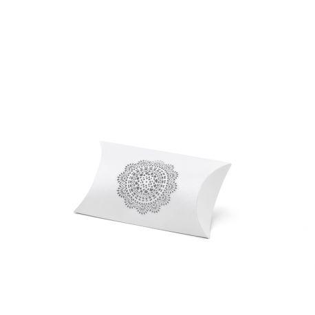 Biela krabička na darčeky pre hostí - rozetka