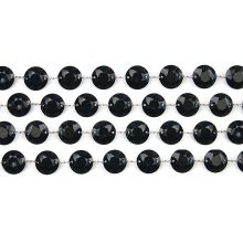 Girlanda kryštálová 100cm čierna