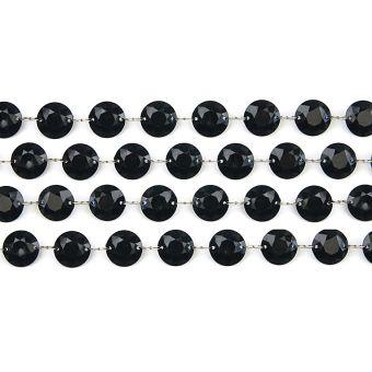 Čierna kryštálová girlanda