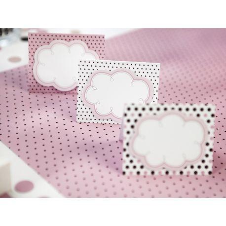 Ružová menovka na stôl - mix