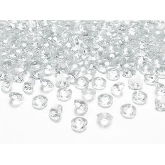 Biele diamanty 12mm