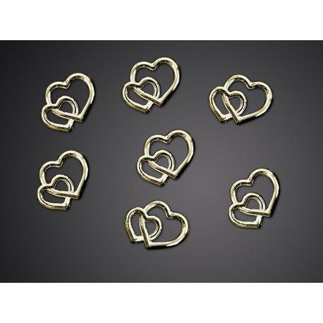 Ozdobné kamienky - zlaté srdcia