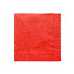 Červené papierové obrúsky - Standard 33cm/20ks