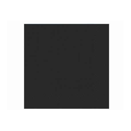 Čierne papierové obrúsky - Standard 33cm/20ks
