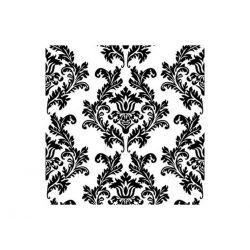 Papierové obrúsky Damask 33cm/20ks - čierne ornamenty