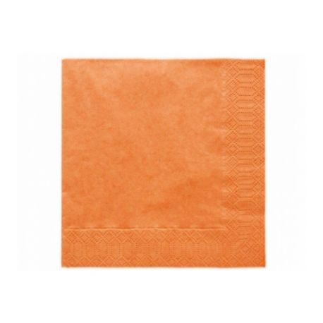 Oranžové papierové obrúsky - Standard 33cm/20ks