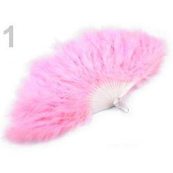 Ružový vejár z páperia - 56cm