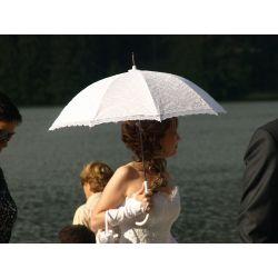 Čipkovaný svadobný dáždnik
