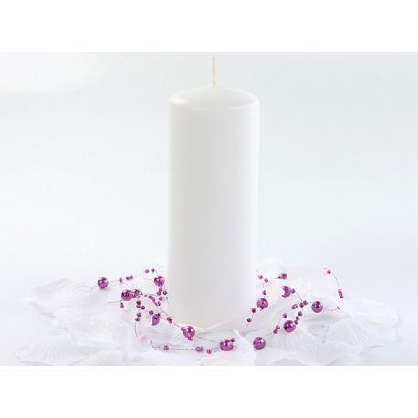 Biela sviečka valec - matná 60/150