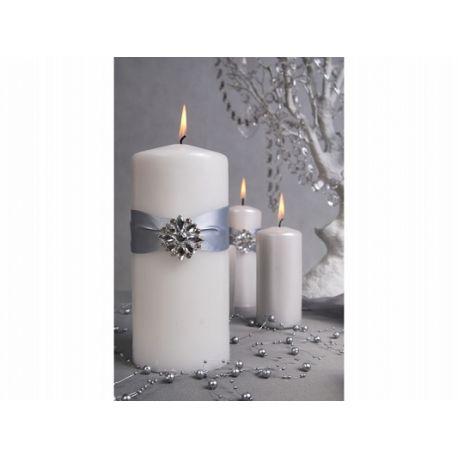 Biela sviečka valec - matná 60/120