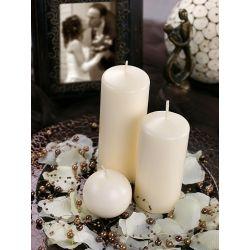 Krémová sviečka valec - matná 60/120