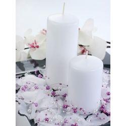 Biela sviečka valec - matná 60/100