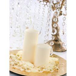 Krémová sviečka valec - matná 60/90