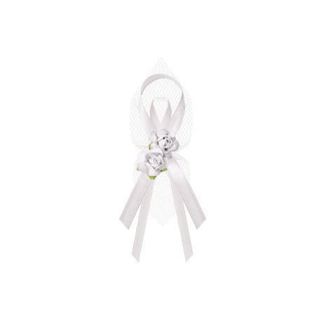 Biele svadobné pierka pre rodičov