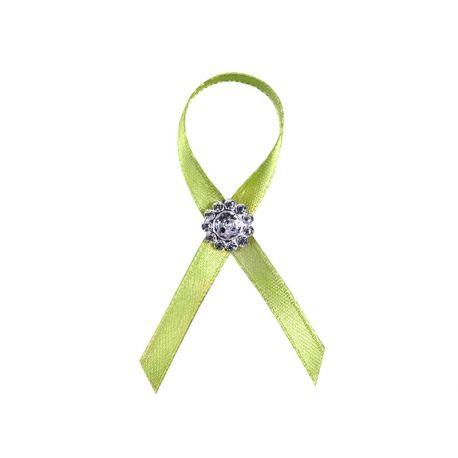 Zelené svadobné pierka pre hostí