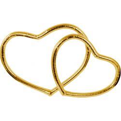 Zlaté srdcia na auto - 30cm a 40cm