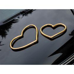 Svadobné srdcia na auto